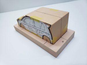 マニアモデルファイル 愛車 旧規格 HA21S/HB11S スズキ アルトワークス の自作 ミニカー 模型作り-車両台座固定-03