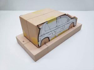 マニアモデルファイル 愛車 旧規格 HA21S/HB11S スズキ アルトワークス の自作 ミニカー 模型作り-車両台座固定-04