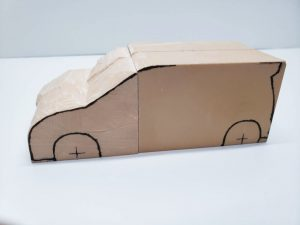 マニアモデルファイル 愛車 旧規格 HA21S/HB11S スズキ アルトワークス の自作 ミニカー 模型作り-左側面から車体の削り-04