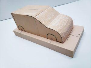 マニアモデルファイル 愛車 旧規格 HA21S/HB11S スズキ アルトワークス の自作 ミニカー 模型作り-フロント車体の削り-07
