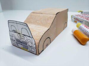 マニアモデルファイル 愛車 旧規格 HA21S/HB11S スズキ アルトワークス の自作 ミニカー 模型作り-フロント型紙合わせ-05