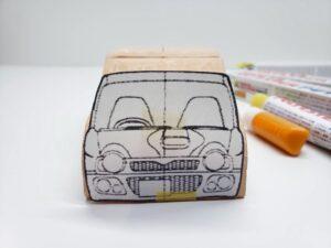 マニアモデルファイル 愛車 旧規格 HA21S/HB11S スズキ アルトワークス の自作 ミニカー 模型作り-フロント型紙合わせ-04