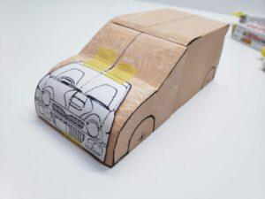 マニアモデルファイル 愛車 旧規格 HA21S/HB11S スズキ アルトワークス の自作 ミニカー 模型作り-フロント型紙合わせ-02