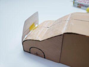 マニアモデルファイル 愛車 旧規格 HA21S/HB11S スズキ アルトワークス の自作 ミニカー 模型作り-フロント型紙合わせ-09
