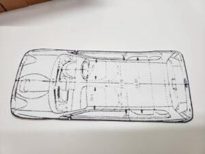 マニアモデルファイル 愛車 旧規格 HA21S/HB11S スズキ アルトワークス の自作 ミニカー 模型作り-ルーフ 天井 型紙合わせ-01