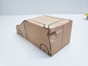 マニアモデルファイル 愛車 旧規格 HA21S/HB11S スズキ アルトワークス の自作 ミニカー 模型作り-ルーフ 天井 型紙合わせ-09
