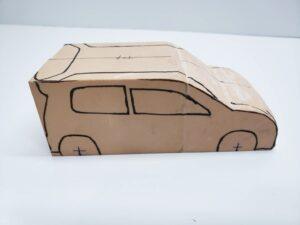 マニアモデルファイル 愛車 旧規格 HA21S/HB11S スズキ アルトワークス の自作 ミニカー 模型作り-ルーフ 右側面 型紙合わせ-03