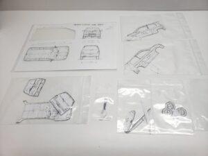 マニアモデルファイル 愛車 旧規格 HA21S/HB11S スズキ アルトワークス の自作 ミニカー 模型作り-  型紙コレクション-01