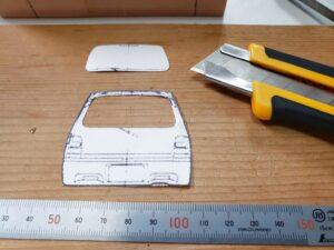 マニアモデルファイル 愛車 旧規格 HA21S/HB11S スズキ アルトワークス の自作 ミニカー 模型作り-リヤゲート 型紙、ケガキ-03