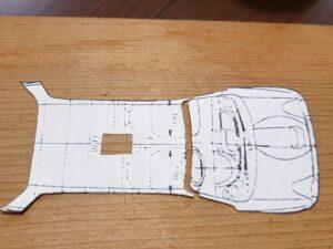 マニアモデルファイル 愛車 旧規格 HA21S/HB11S スズキ アルトワークス の自作 ミニカー 模型作り-ルーフ(天井)フロントピラー 型紙、追加ケガキ-03