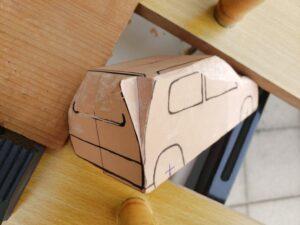 マニアモデルファイル 愛車 旧規格 HA21S/HB11S スズキ アルトワークス の自作 ミニカー 模型作り - リヤと右側面の削り風景 - 04