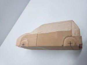 マニアモデルファイル 愛車 旧規格 HA21S/HB11S スズキ アルトワークス の自作 ミニカー 模型作り - 左側面の彫り -02