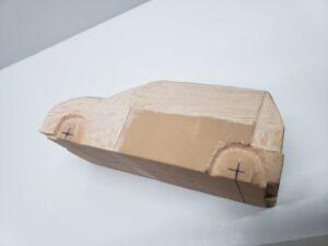 マニアモデルファイル 愛車 旧規格 HA21S/HB11S スズキ アルトワークス の自作 ミニカー 模型作り - 左側面の彫り -03