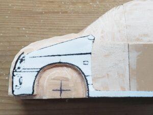 マニアモデルファイル 愛車 旧規格 HA21S/HB11S スズキ アルトワークス の自作 ミニカー 模型作り - 左側面の彫り -05