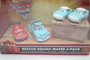 P7252 マテル CARS カーズ レスキュー メーター Rescue SQUAD Mater 4-pacK パック-04