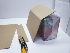 マニアモデル梱包のコツ サイズに合わせて段ボール箱をカットする-03