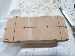 マニアモデルファイル 愛車 旧規格 HA21SHB11S スズキ アルトワークス の自作 ミニカー 模型作り -底面の測定 (1)