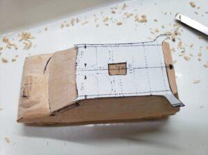 マニアモデルファイル 愛車 旧規格 HA21S/HB11S スズキ アルトワークス の自作 ミニカー 模型作り -左側面 再削り- 10
