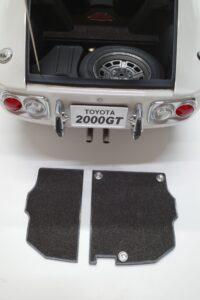 デアゴスティーニ トヨタ 2000GT 1-10 組立済み 完成品 全65号 セット の模型の拡大撮影 (11)
