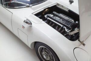 デアゴスティーニ トヨタ 2000GT 1-10 組立済み 完成品 全65号 セット の模型の拡大撮影 (44)
