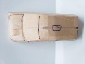 愛車 模型作り-旧規格 HA21S- HB11S スズキ アルトワークス の自作 ミニカー ヘッドライトのケガキ入れと削りと確認 (17)