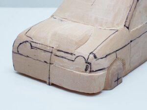 愛車 模型作り-旧規格 HA21S- HB11S スズキ アルトワークス の自作 ミニカー 前側と角の確認と削りの追加 (7)
