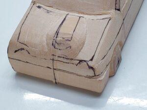 愛車 模型作り-旧規格 HA21S- HB11S スズキ アルトワークス の自作 ミニカー 前側のケガキの追加と確認 (2)