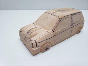 愛車 模型作り-旧規格 HA21S- HB11S スズキ アルトワークス の自作 ミニカー 前側のケガキの追加と確認 (3)