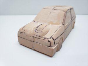 愛車 模型作り-旧規格 HA21S- HB11S スズキ アルトワークス の自作 ミニカー 前側のケガキの追加と確認 (8)