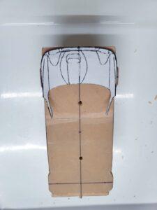 愛車 模型作り-旧規格 HA21S- HB11S スズキ アルトワークス の自作 ミニカー 前側のケガキの追加と確認 (9)