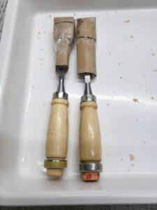 愛車 模型作り-旧規格 HA21S- HB11S スズキ アルトワークス の自作 ミニカー 加工用の カービングナイフ(彫刻刀)の鞘 (1)