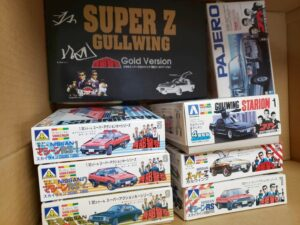 買取事例 プラモデル 32スケール西部警察のスカイラインやフェアレディZやコブラなどを撮影した風景