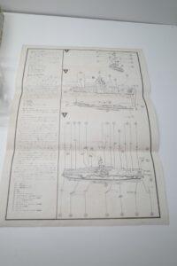 プラモデル 船 Revell 1-540 レベル CVS-18 ワスプ アメリカ 米 空母 USS WASPの説明書 (1)