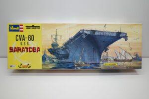 プラモデル 船 Revell 1-540 レベル U.S.S CVA-60 SARATOGA サラトガの箱 (1)