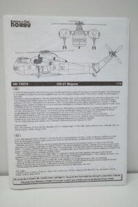プラモデル 1-72 スペシャルホビー 148 CH-37B モハービ アメリカ陸軍 輸送ヘリコプター SH72705 の説明書 (1)