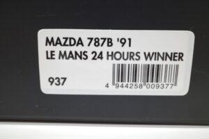 ミニカー 937 hpi・ racing 1-43 マツダ Mazda 787B LM 24h 1991 Winner (5)