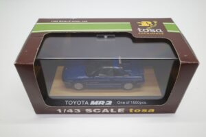 ミニカー tosa トサ 1-43 トヨタ MR2 AW11 MR-2 ブルー Blue 青 Super charger toyota (9)