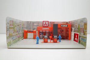 トミカラマ 三菱石油 ガソリンスタンド GS 旧 トミー 日本製 北町給油所 他- (18)