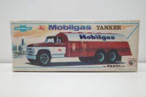 アサヒ トーイ 玩具 シボレー モービル ガス タンカー ATC ブリキ ミニカー- (2)