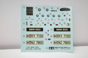 タミヤ レベル Revell 1-24 BMW 850i 絶版品 E31型 エンジン付 フルディスプレイモデル- (3)