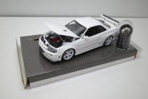 ホットワークス 1-24 日産 スカイライン GT-R V-スペックII 2002 BNR34 ニスモ R-S-tune 白- (19)