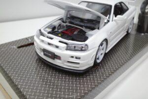 ホットワークス 1-24 日産 スカイライン GT-R V-スペックII 2002 BNR34 ニスモ R-S-tune 白- (20)