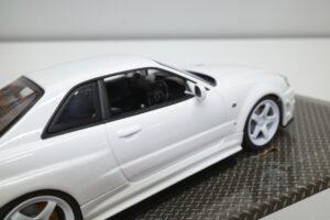 ホットワークス 1-24 日産 スカイライン GT-R V-スペックII 2002 BNR34 ニスモ R-S-tune 白- (30)