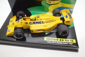 PMA 1-43 ロータス ホンダ 99T ターボ Turbo A.セナ #12 No.15 1987 キャメル CAMEL タバコ 仕様 Lotus Honda- (16)