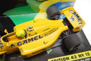 PMA 1-43 ロータス ホンダ 99T ターボ Turbo A.セナ #12 No.15 1987 キャメル CAMEL タバコ 仕様 Lotus Honda- (17)